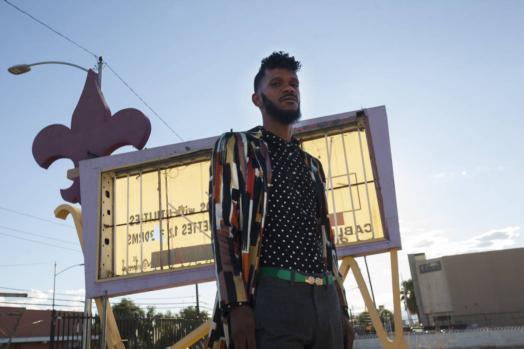 Deverynn Bryant at the Moulin Rouge site in Las Vegas, Tuesday, Sept. 12, 2017. He is a part of Harrison House, a non-profit that wants to restore the Moulin Rouge, the first integrated hotel-casi ...