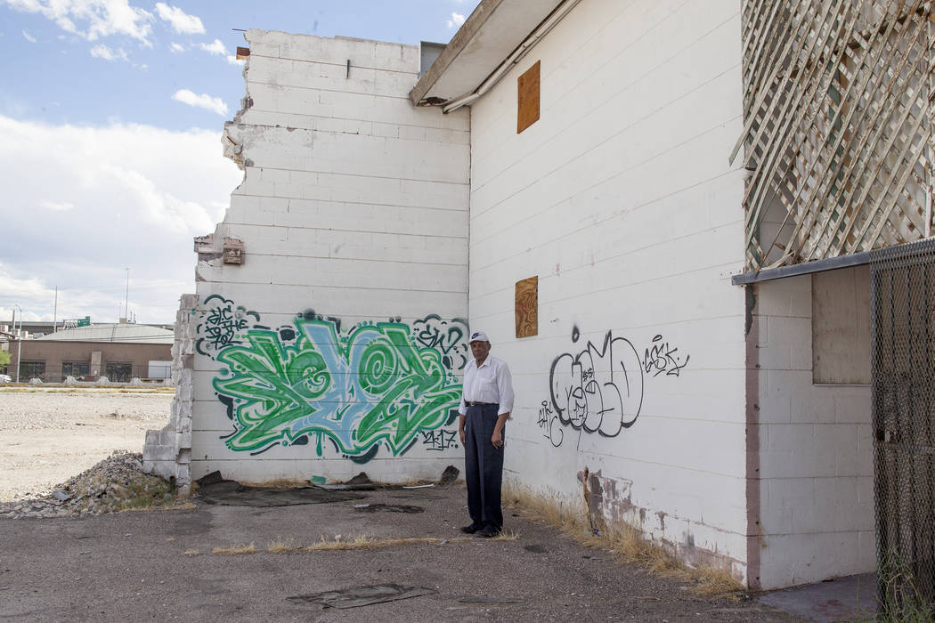 Former Assemblyman Harvey Munford at the Moulin Rouge property in Las Vegas, Wednesday, Sept. 13, 2017. The city is in the process of trying to get some of the structures on the property demolishe ...