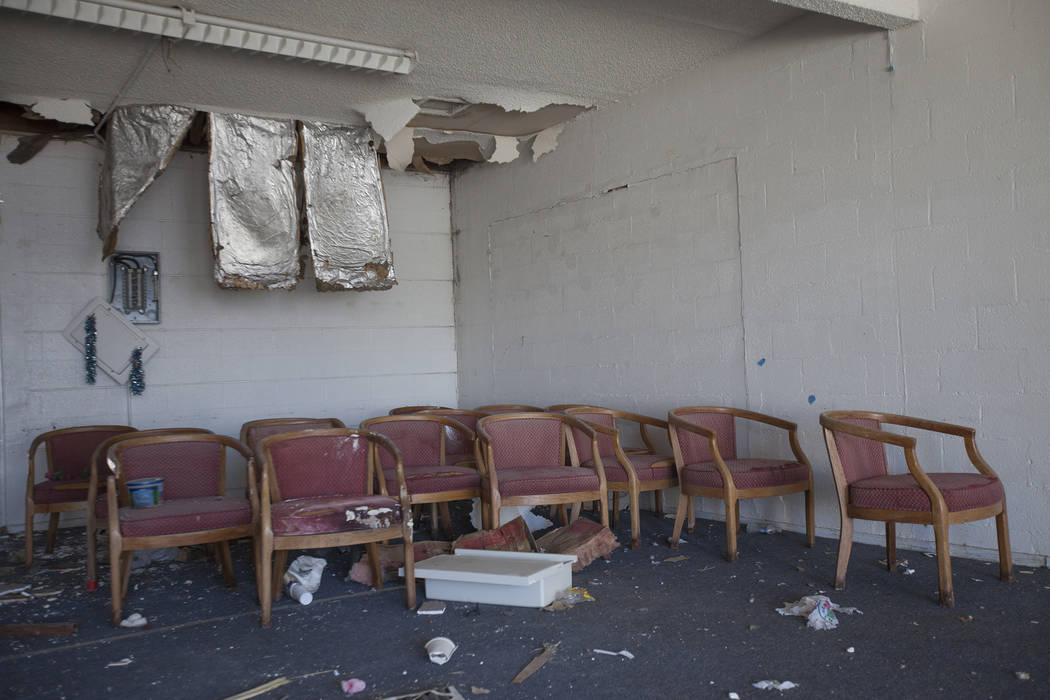A room inside a small strip mall at the Moulin Rouge property in Las Vegas, Thursday, Sept. 14, 2017. The building once held a church. Rachel Aston Las Vegas Review-Journal @rookie__rae