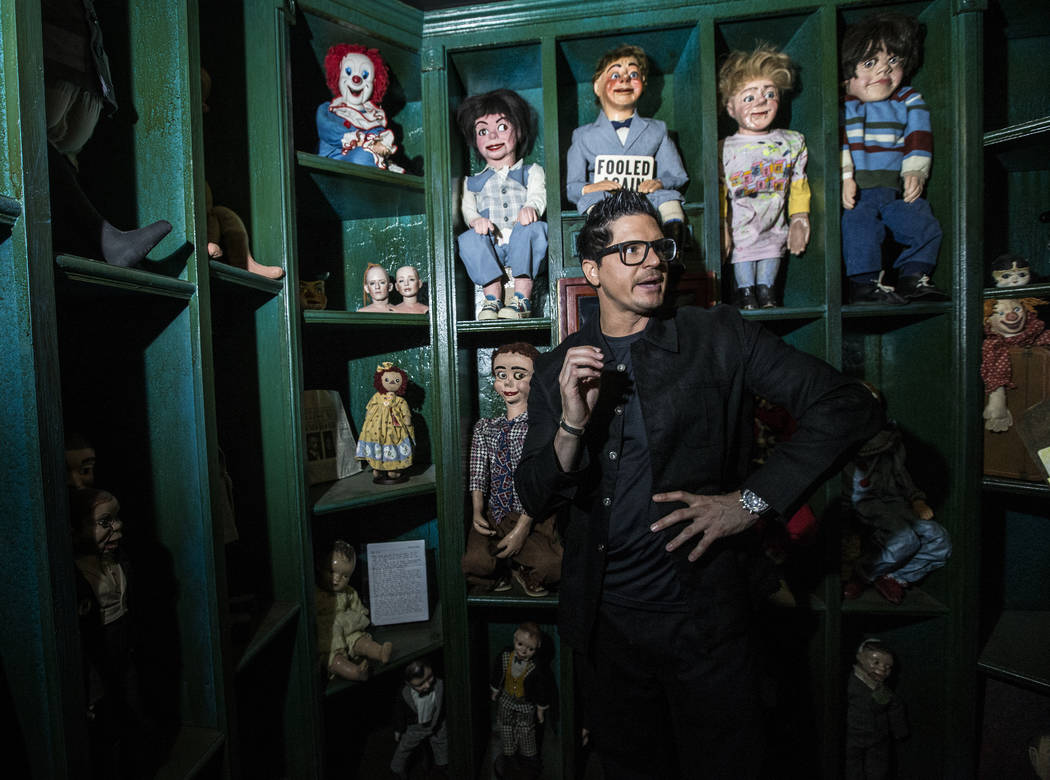 "Zak Bagans, host of Travel Channel's ""Ghost Adventures,"" discusses the background of the haunted museum he is set to open in a historic downtown Las Vegas mansion. Photo taken on ..."