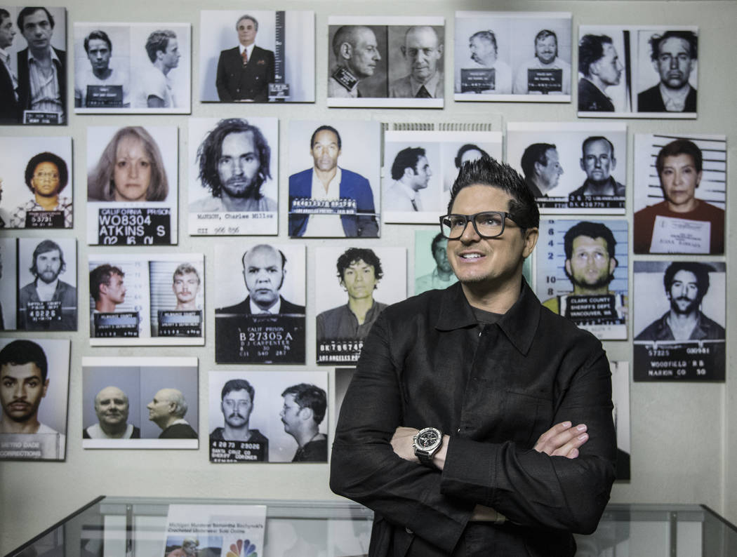 "Zak Bagans, host of Travel Channel's ""Ghost Adventures,"" is opening a haunted museum in a thirty-room, historic downtown Las Vegas mansion. Photo taken on Monday, September 11, 2017, at Zak Bagans ..."