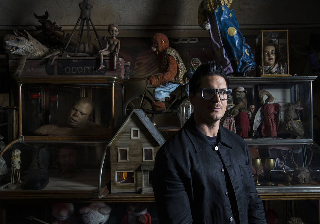 """Zak Bagans, host of Travel Channel's """"Ghost Adventures,"""" is opening a haunted museum in a thirty-room, historic downtown Las Vegas mansion. Photo taken on Monday, September 11, 2 ..."""