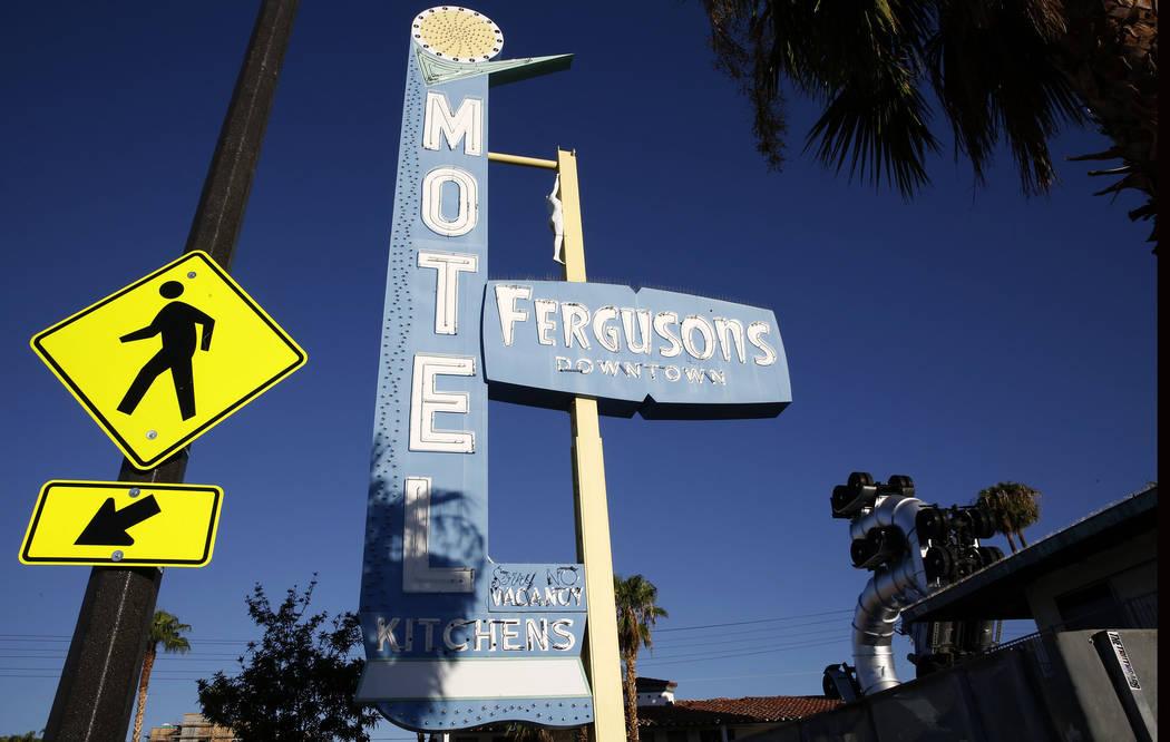 Motel Fergusons on 1028 Fremont St., in downtown Las Vegas on Tuesday, Sept. 12, 2017. Bizuayehu Tesfaye Las Vegas Review-Journal @bizutesfaye