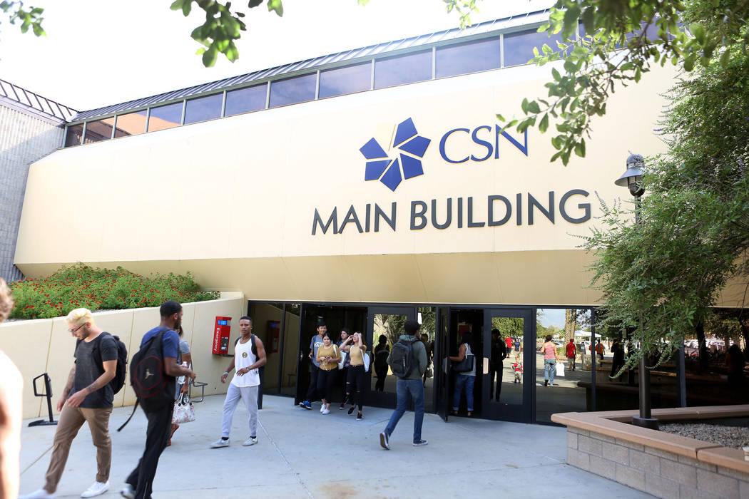 The College of Southern Nevada, Cheyenne Campus in North Las Vegas, Monday, Aug. 28, 2017. (Elizabeth Brumley Las Vegas Review-Journal)