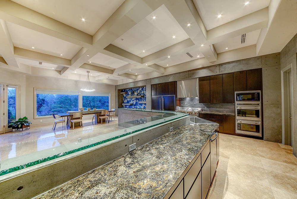 The home's kitchen is large and modern. (The Napoli Group)