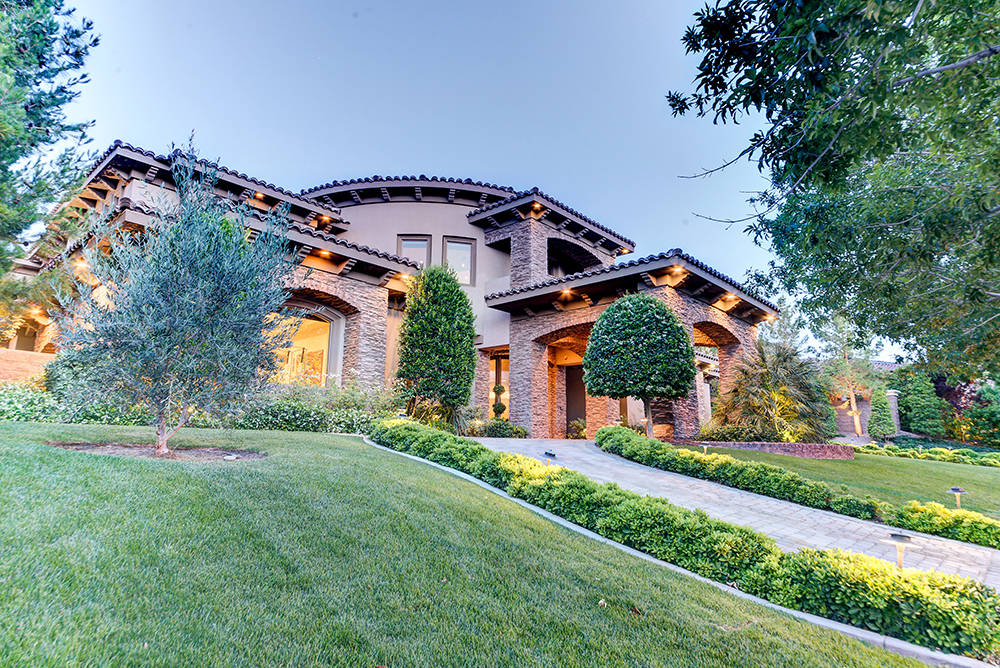 The $6.25 million Southern Highlands home has an private park. (The Napoli Group)