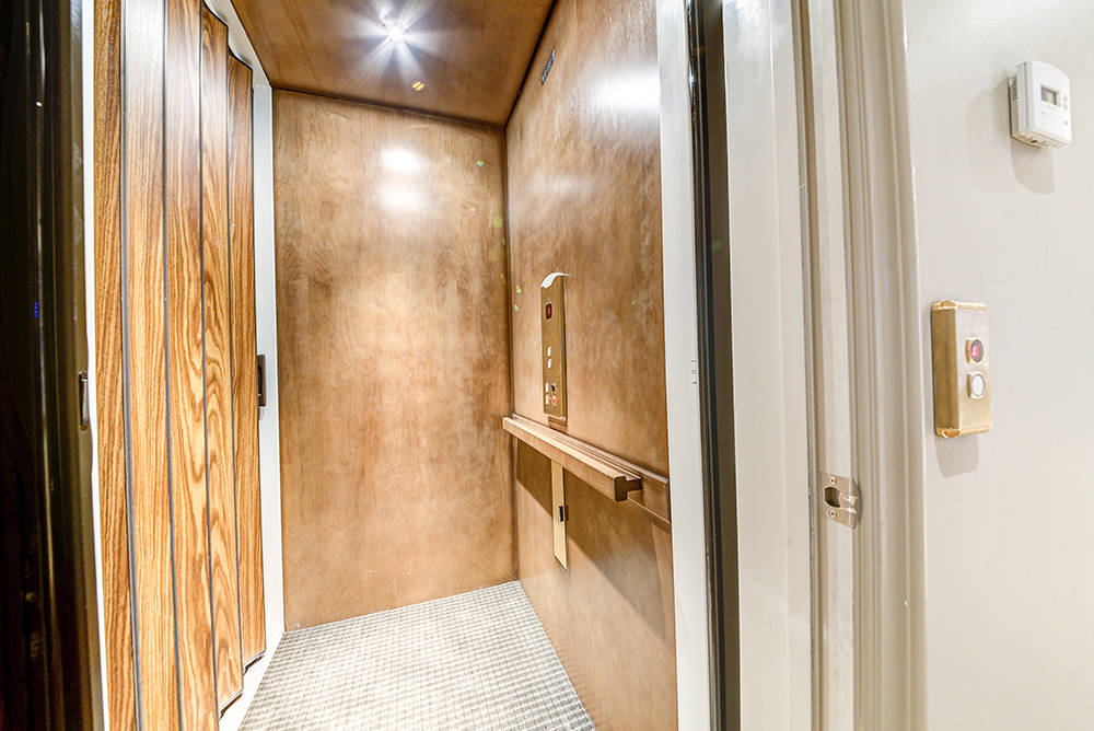 An elevator connects the home's two stories.  (The Napoli Group)
