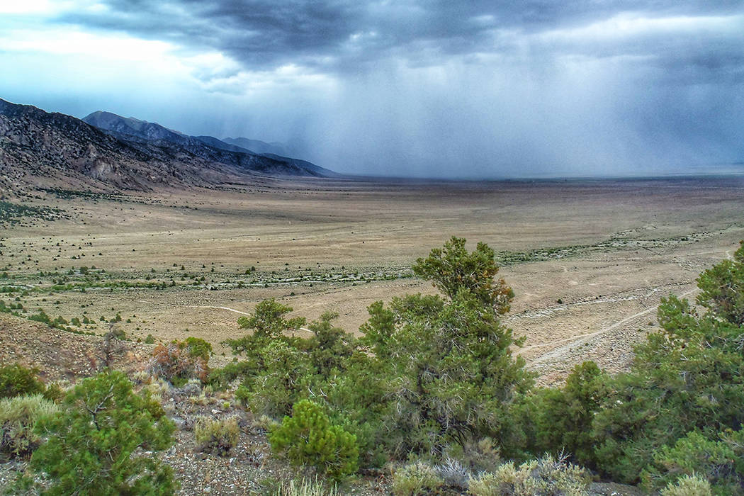A storm moves through Big Smoky Valley in Central Nevada.  (Patrick Donnelly/Center for Biological Diversity)