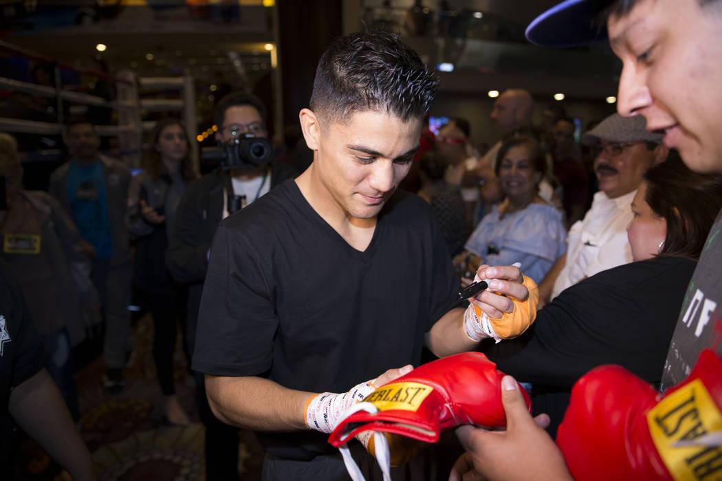 Joseph Diaz Jr. after an open workout at the MGM Grand hotel-casino in Las Vegas, Wednesday, Sept. 13, 2017. Erik Verduzco Las Vegas Review-Journal @Erik_Verduzco