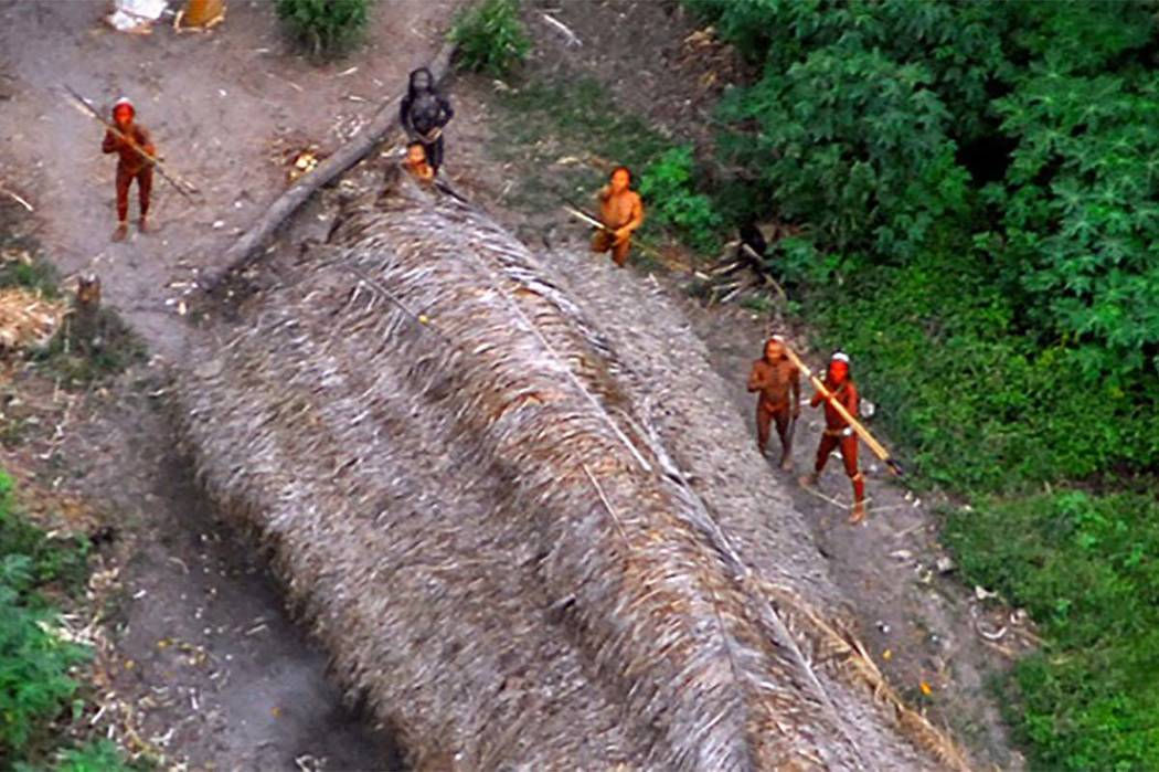 Members of an uncontacted tribe in Brazil in 2008. (AP/file)