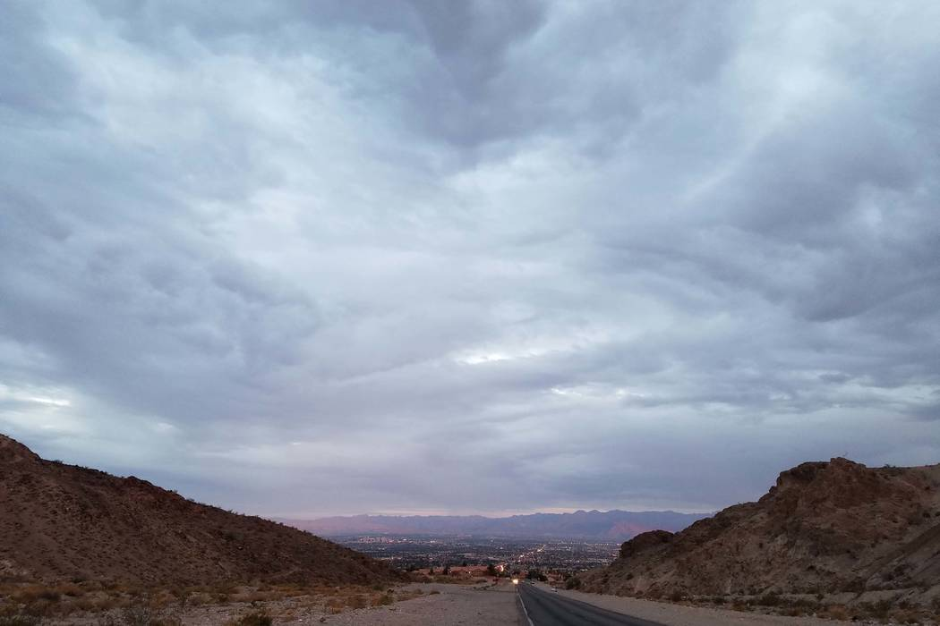 Rain in possible this week in the Las Vegas Valley. (Mike Shoro/Las Vegas Review-Journal)