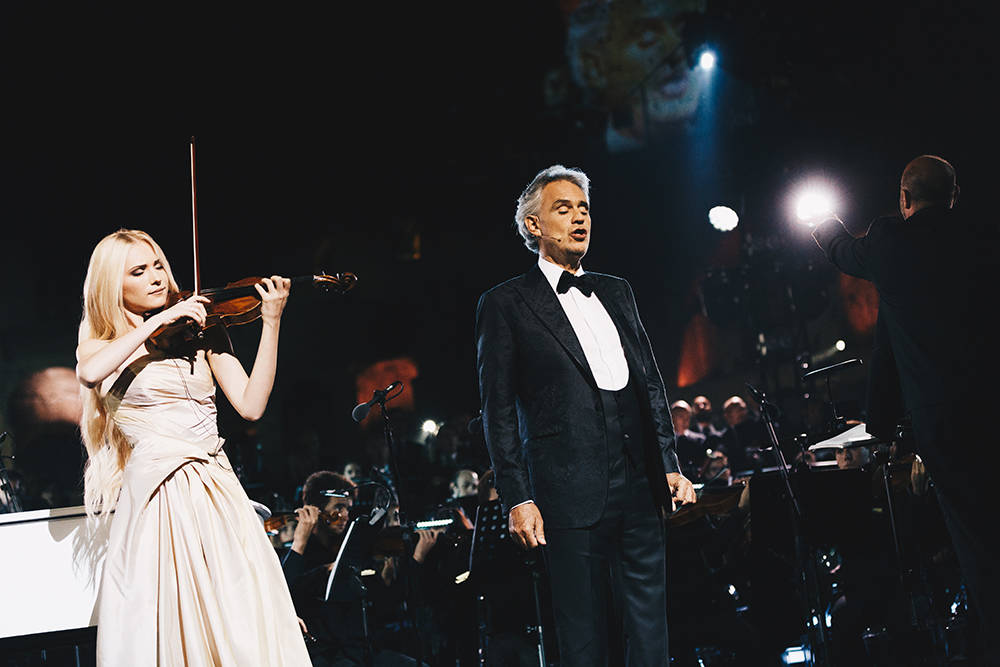 The seven-day trip to Rome for well-heeled donors of our Keep Memory Alive charity ended this weekend. The last night featured a performance from pop era superstar Andrea Bocelli.  (Courtesy)