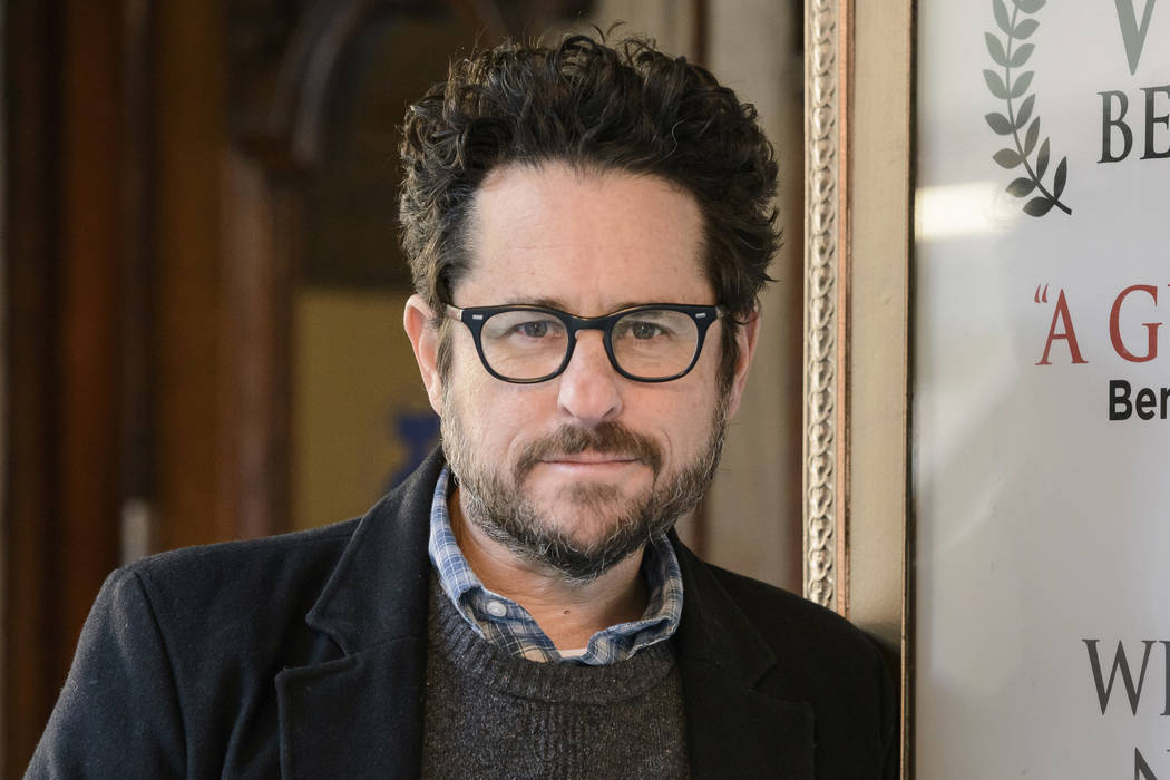 "Director-producer J.J. Abrams poses for a portrait March 2, 2017, to promote ""The Play That Goes Wrong"" at the Lyceum Theatre in New York. Abrams is returning to ""Star Wars,"" and will replace  ..."