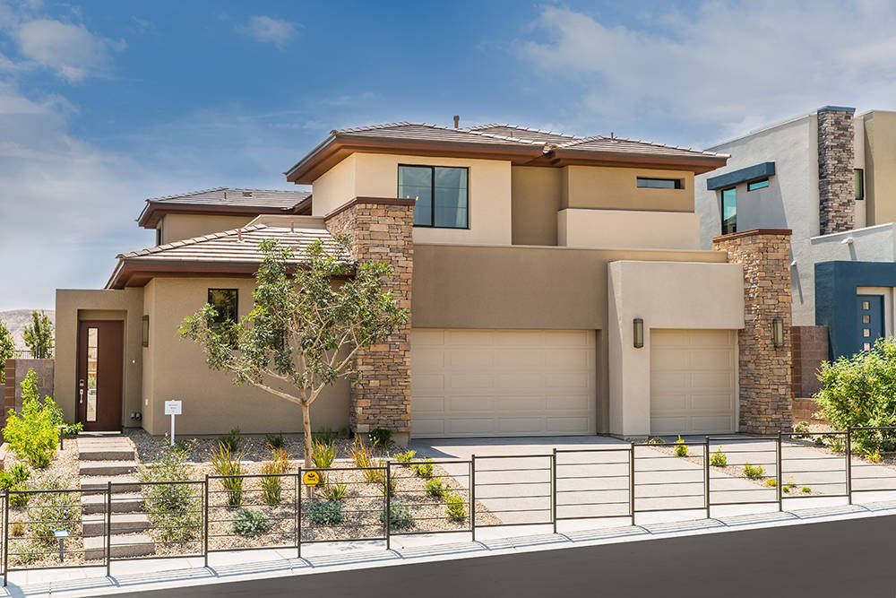 Oluna in The Cliffs village is one of two neighborhoods by Lennar in the master-planned community of Summerlin. Oluna offers four floor plans that range from 3,290 to 3,800 square feet, priced fro ...