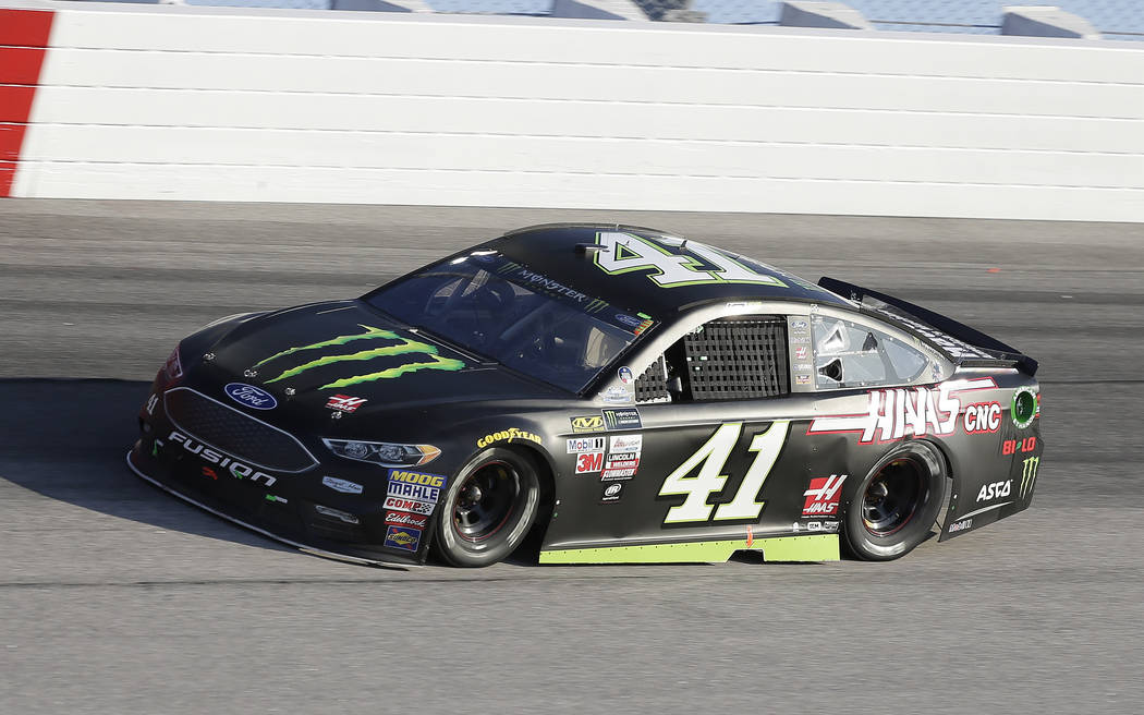 Kurt Busch drives in Turn 1 during a NASCAR Monster Cup auto race at Darlington Raceway, Sunday, Sept. 3, 2017, in Darlington, S.C. (AP Photo/Terry Renna)