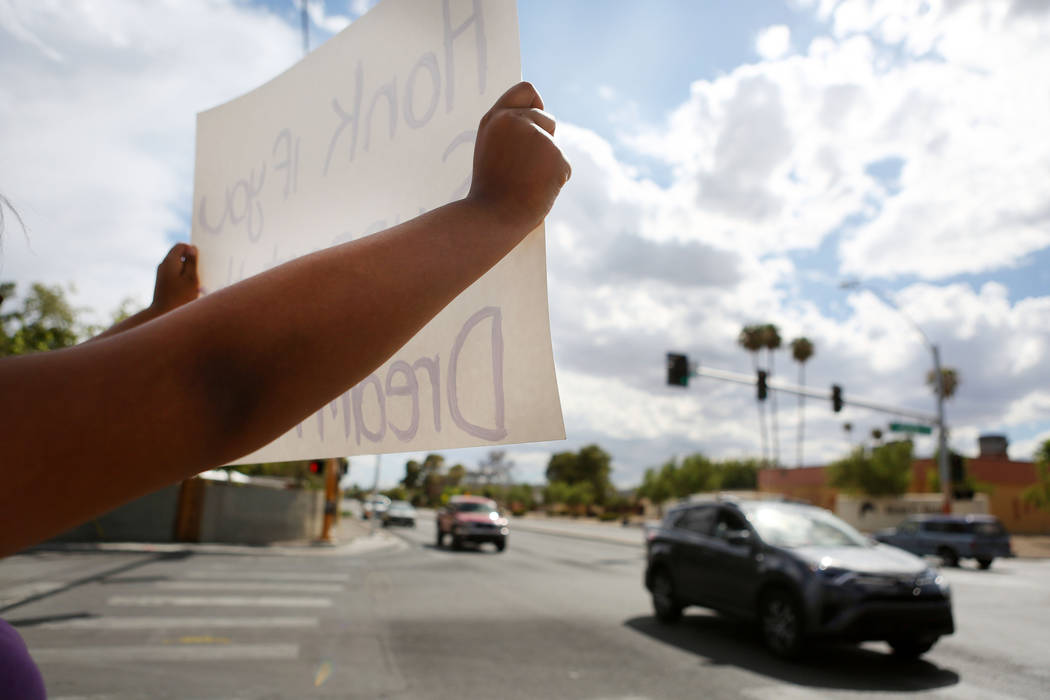 High school students rally in support of the DREAM Act, Rancho high school in Las Vegas, Wednesday, Sept. 13, 207. Elizabeth Brumley Las Vegas Review-Journal