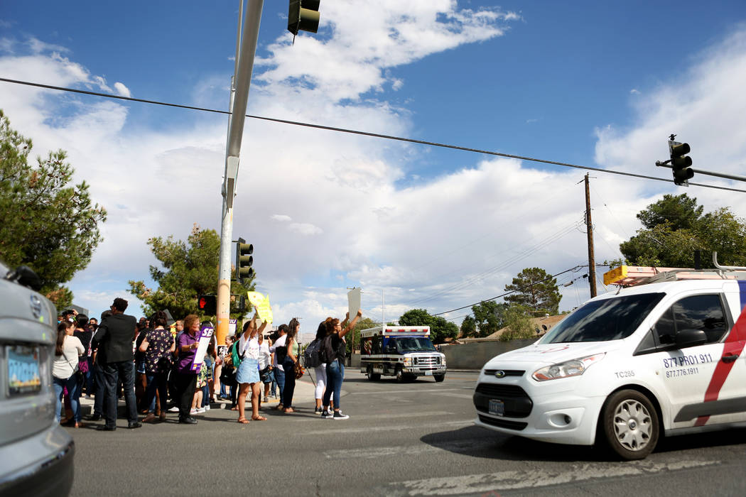 High school students that organized a rally in support of the DREAM Act, at Rancho high school in Las Vegas, Wednesday, Sept. 13, 207. Elizabeth Brumley Las Vegas Review-Journal