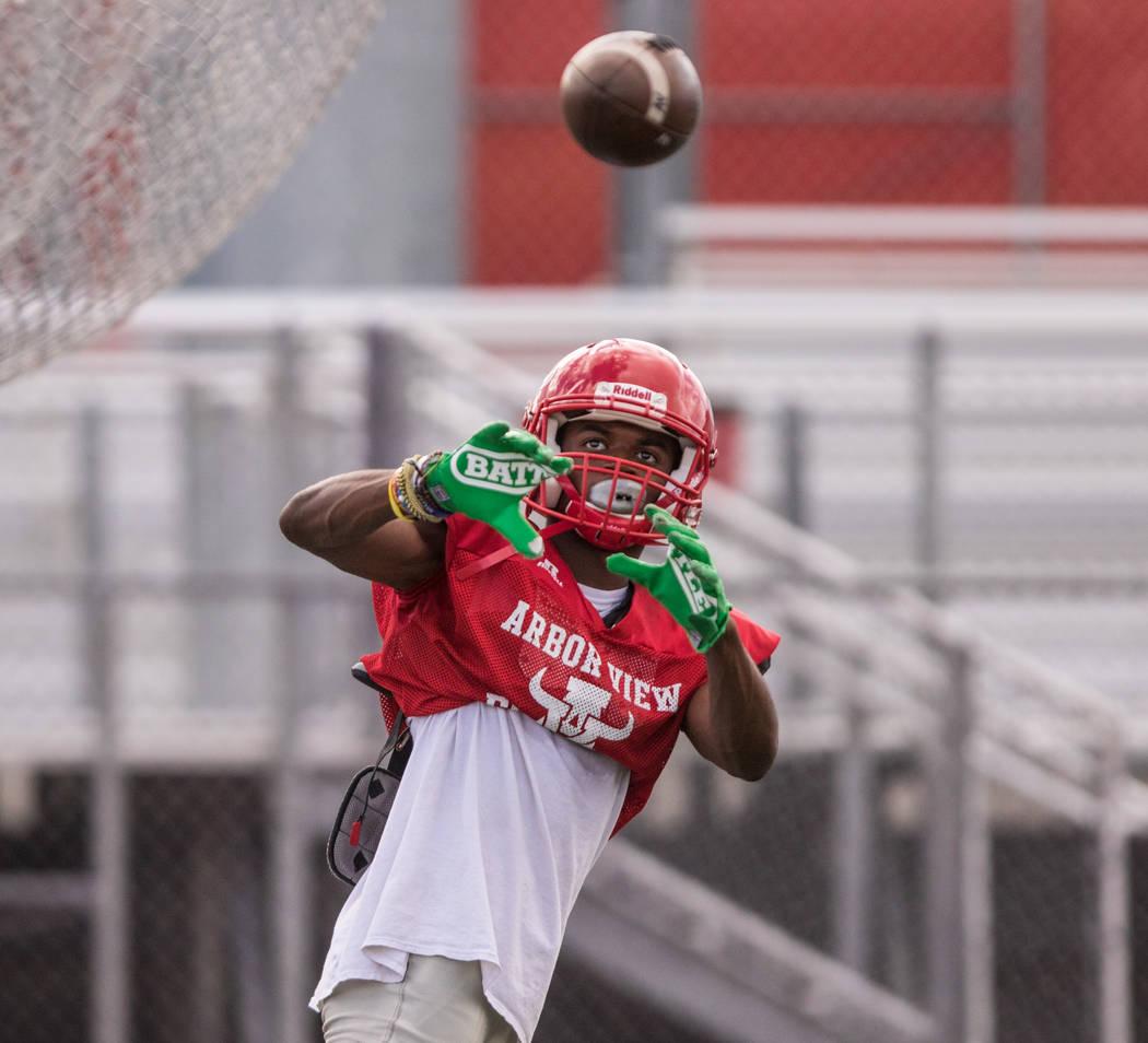 Cornerback Isaiah Herron at practice at Arbor View High School on Wednesday, Sep. 13, 2017, in Las Vegas. Morgan Lieberman Las Vegas Review-Journal