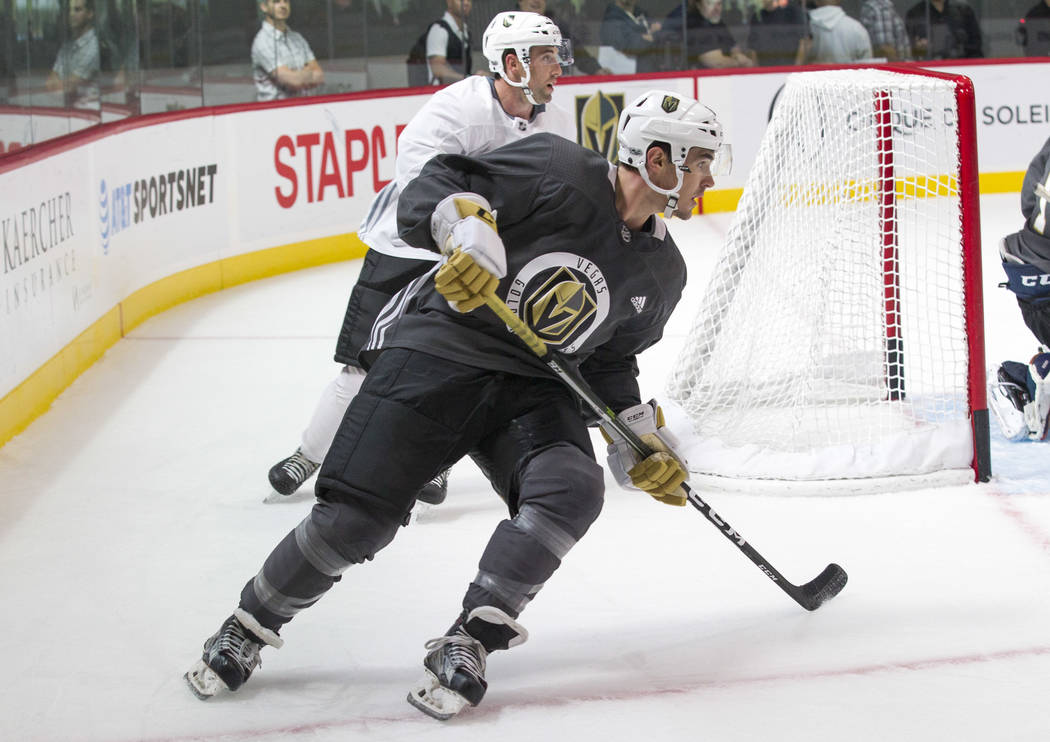 Vegas Golden Knights forward Bryce Gervais (62) in a scrimmage game during the NHL team's practice at the City National Arena in Las Vegas, Saturday, Sept. 16, 2017. Richard Brian Las Vegas Review ...