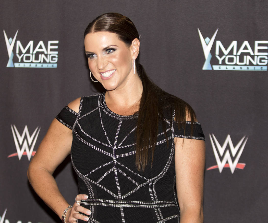 WWE Chief Brand Officer Stephanie McMahon on the red carpet at the Mae Young Classic event at the Thomas & Mack Center in Las Vegas, Tuesday, Sept. 12, 2017. Heidi Fang Las Vegas Review-Journa ...