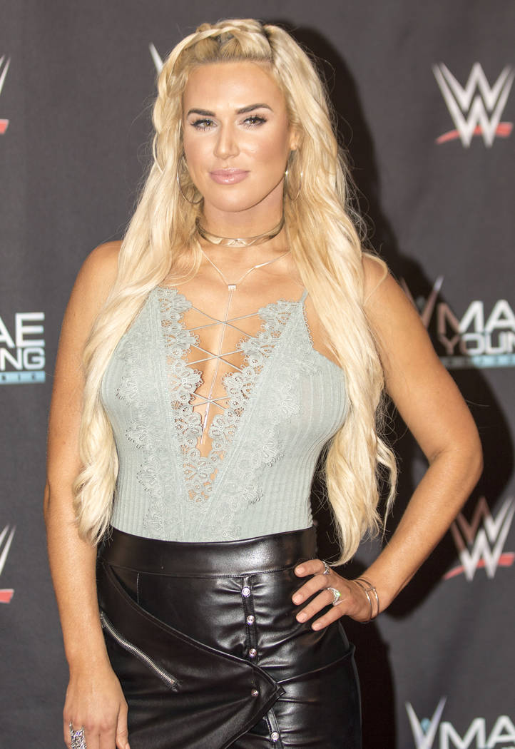 WWE superstar Lana on the red carpet at the Mae Young Classic event at the Thomas & Mack Center in Las Vegas, Tuesday, Sept. 12, 2017. Heidi Fang Las Vegas Review-Journal @HeidiFang