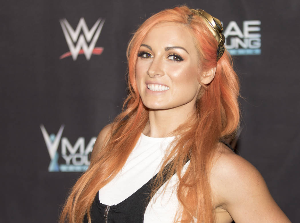WWE superstar Becky Lynch on the red carpet at the Mae Young Classic event at the Thomas & Mack Center in Las Vegas, Tuesday, Sept. 12, 2017. Heidi Fang Las Vegas Review-Journal @HeidiFang