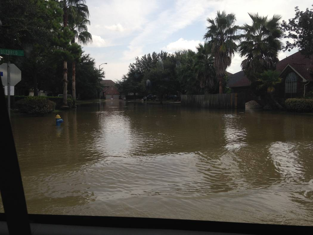 Noah MacFawn, who plays in Southern Nevada Golf Association events, witnessed the Hurricane Harvey devastation first hand. Courtesy MacFawn family.
