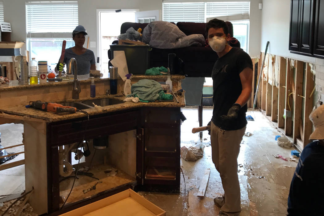 Foothill High golfer Noah MacFawn went to the Houston area to help residents recover from Hurricane Harvey. In the process, he gained a new perspective on golf and life. Courtesy MacFawn family.