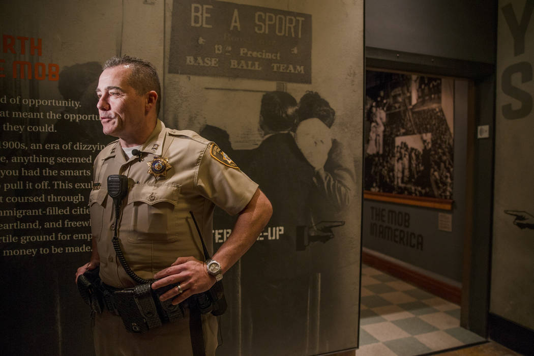 "Captain Andrew Walsh speaks on camera after the ""dummy"" panel at the Mob Museum on Tuesday, Sep. 19, 2017, in Las Vegas. Morgan Lieberman Las Vegas Review-Journal"