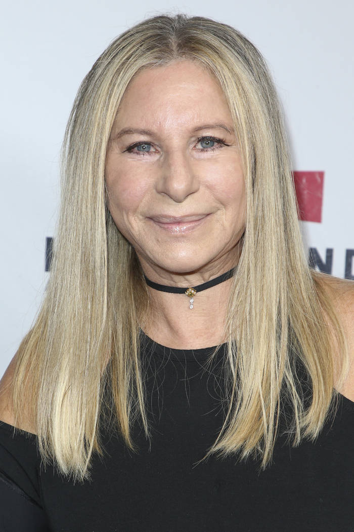 Barbra Streisand attends the Hand in Hand: A Benefit for Hurricane Harvey Relief held at Universal Studios Back Lot on Tuesday, Sept. 12, 2017 in Los Angeles. (Photo by John Salangsang/Invision/AP)