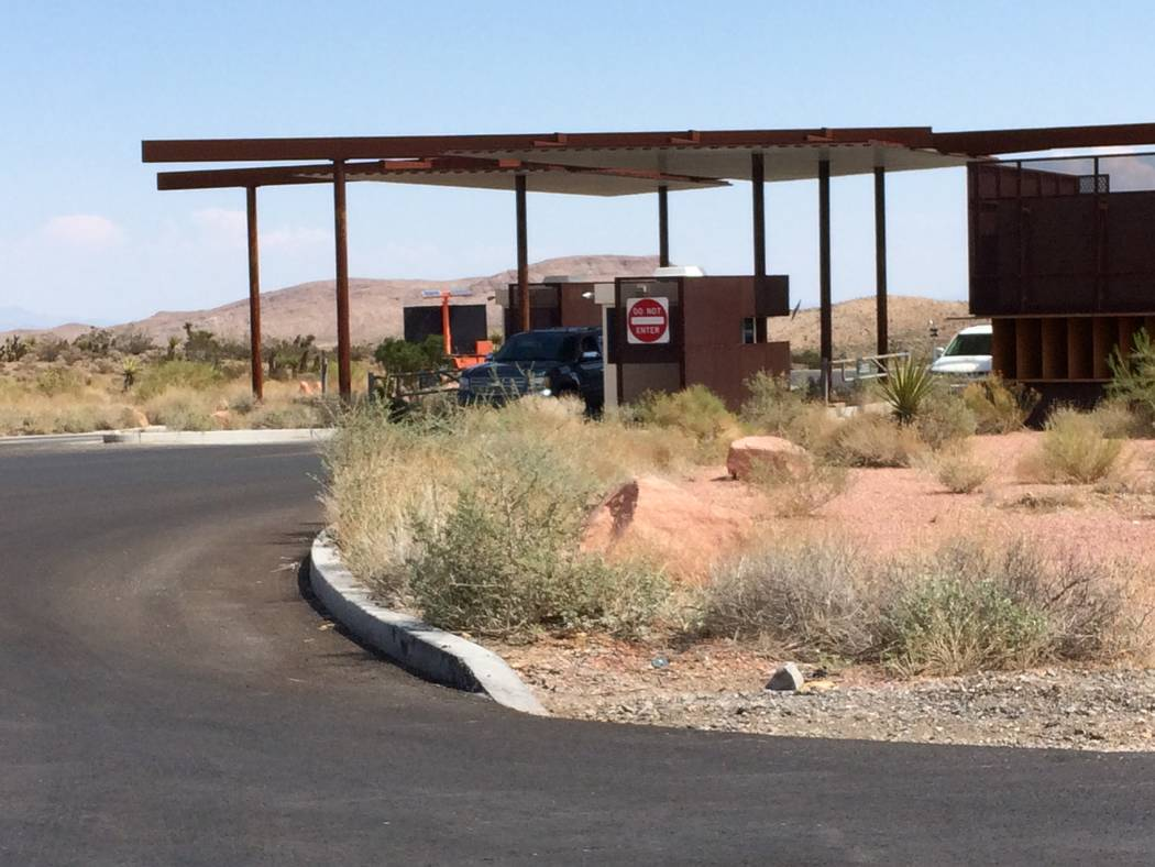 The entry where motorists pay their fee to access Red Rock Canyon National Conservation Area is seen Sept. 10, 2017. The cost to get in will likely rise for 2018. The BLM has been feeling out the  ...