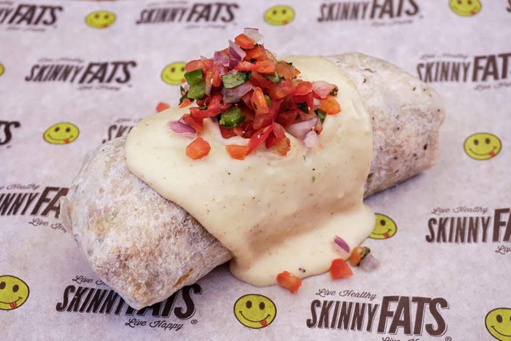 The S'motherload burrito at SkinnyFats. Facebook