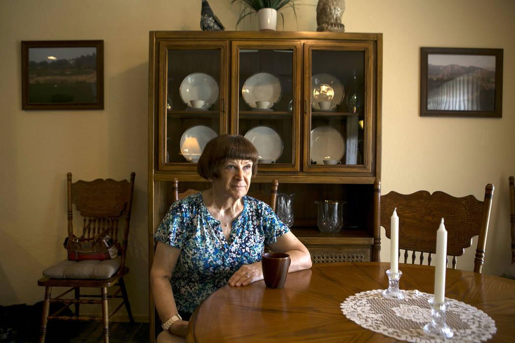 Anne Zarate,  a retired medical assistant, at her home on Thursday, Sept. 14, 2017, in North Las Vegas. Bridget Bennett Las Vegas Review-Journal @bridgetkbennett