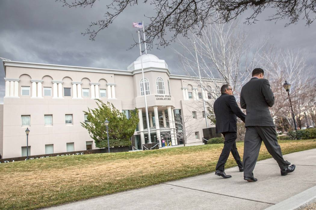 The Nevada Legislative Building in Carson City. (Benjamin Hager/Las Vegas Review-Journal) @benjaminhphoto