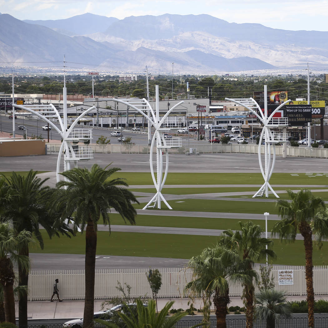 The Las Vegas Festival Grounds on Las Vegas Boulevard and Sahara Avenue on Wednesday, Sept. 13, 2017. Chase Stevens Las Vegas Review-Journal @csstevensphoto
