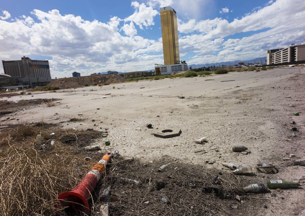 The planned site for the Alon casino-resort along the north Strip area in Las Vegas on Wednesday, Sept. 13, 2017. Chase Stevens Las Vegas Review-Journal @csstevensphoto
