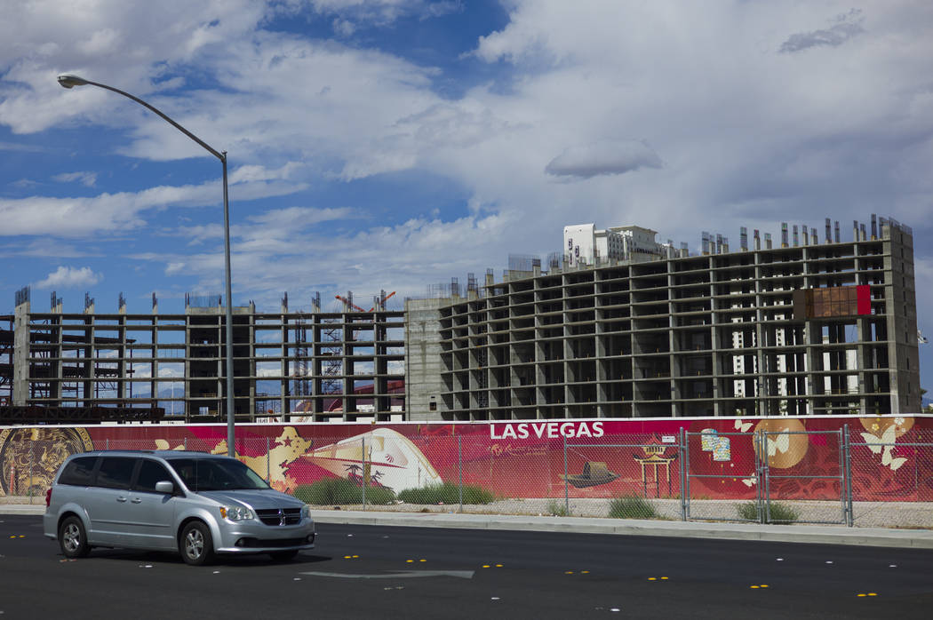 Construction continues at Resorts World Las Vegas along the north Strip area in Las Vegas on Wednesday, Sept. 13, 2017. Chase Stevens Las Vegas Review-Journal @csstevensphoto