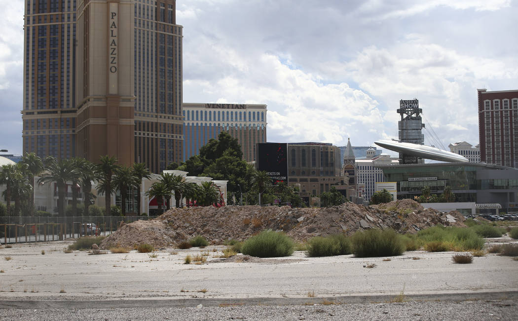 The planned site for the Alon casino-resort along the north Strip area in Las Vegas on Wednesday, Sept. 13, 2017. Chase Stevens Las Vegas Review-Journal @csstevensphoto