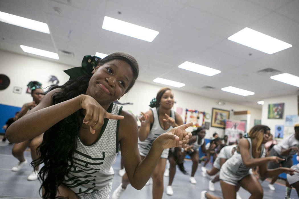 Miami Central High School cheerleader Kenniyah Jenkins participates in a dance class at Rolle Project on Wednesday, Sept. 13, 2017. The dance studio's founder Tyrell Rolle, who is originally from  ...