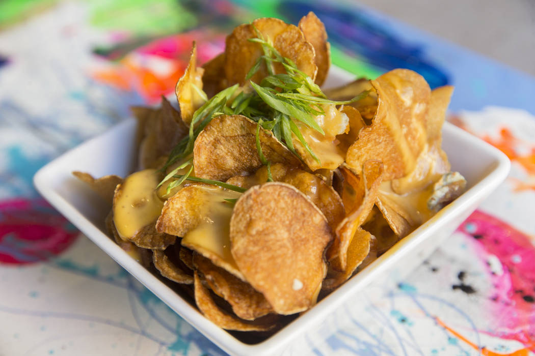 Dirty dirty chips with bleu cheese, green onions and bacon cheese sauce at Proof Tavern on Tuesday, September 19, 2017, in Henderson. Benjamin Hager Las Vegas Review-Journal @benjaminhphoto