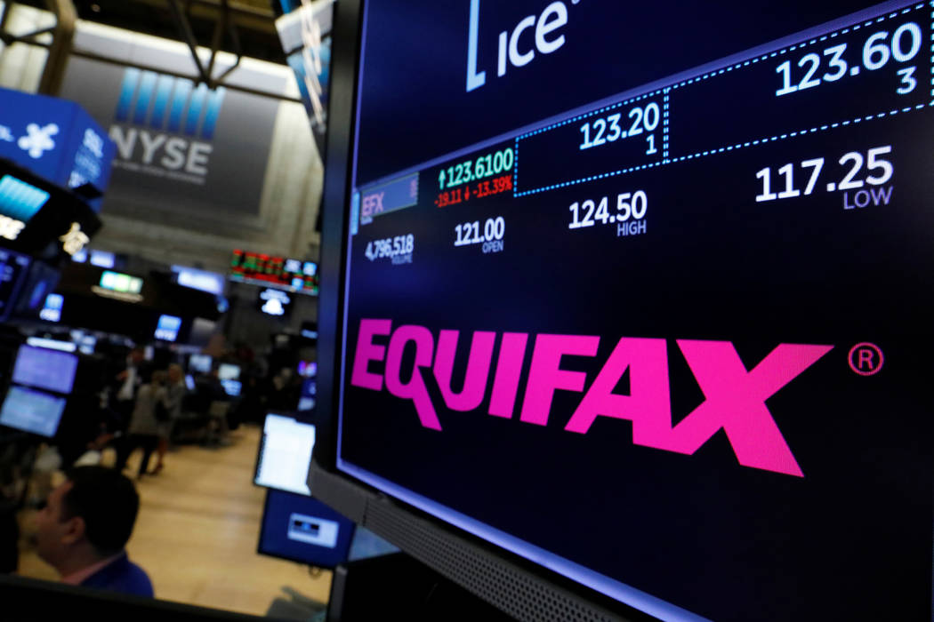 Trading information and the company logo are displayed on a screen where the stock is traded on the floor of the New York Stock Exchange in New York, Sept. 8, 2017. (Brendan McDermid/Reuters)