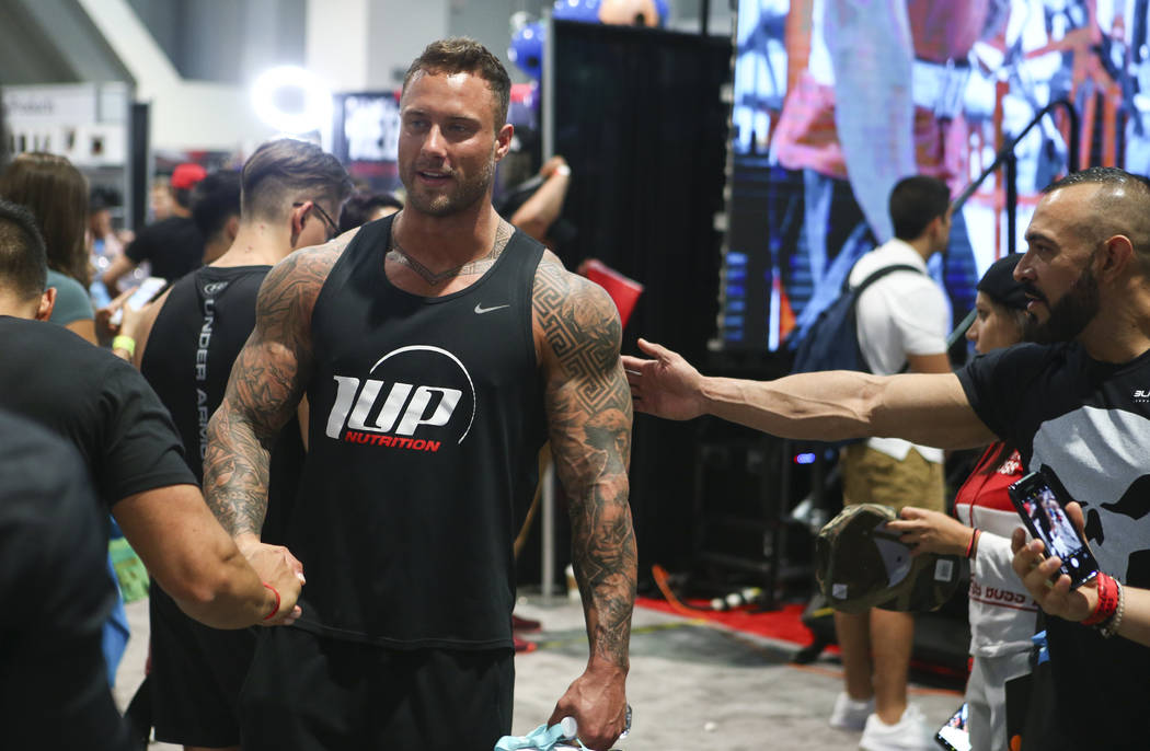 Bodybuilder Zac Smith during Joe Weider's Olympia's Fitness & Performance Expo at the Las Vegas Convention Center in Las Vegas on Friday, Sept. 15, 2017. Chase Stevens Las Vegas Review-Journal ...