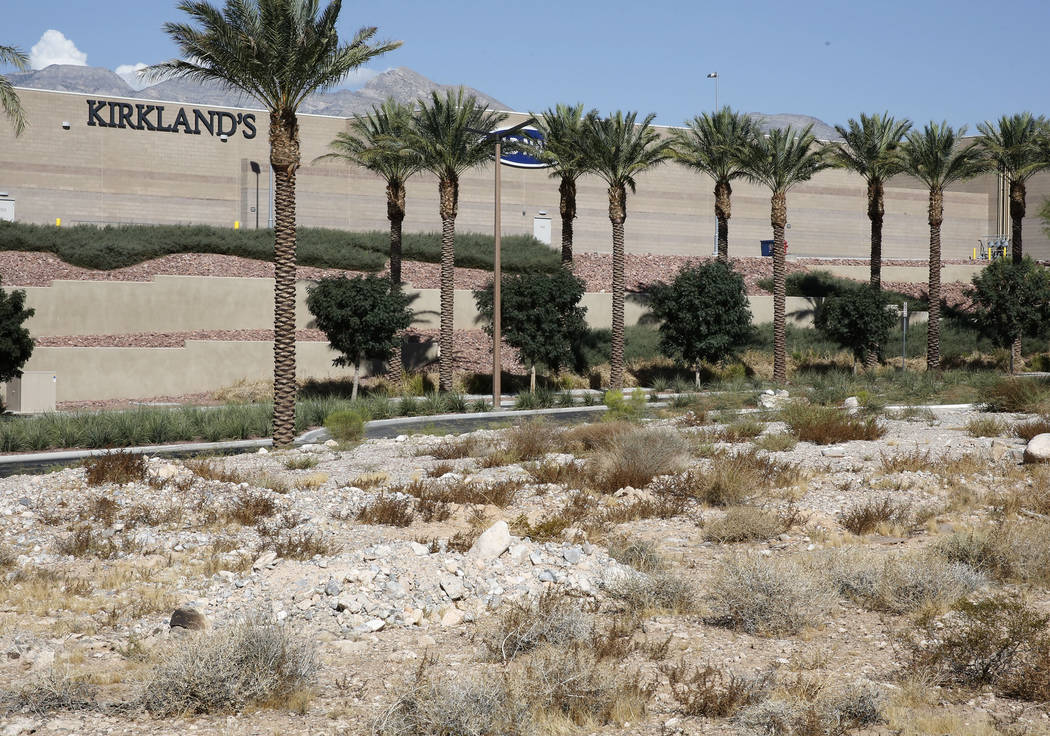 A vacant lot photographed on Thursday, Sept. 14, 2017, where Summerlin developer Howard Hughes Corp. plans to build a 267-unit apartment complex on Sahara Avenue next to Downtown Summerlin's main  ...