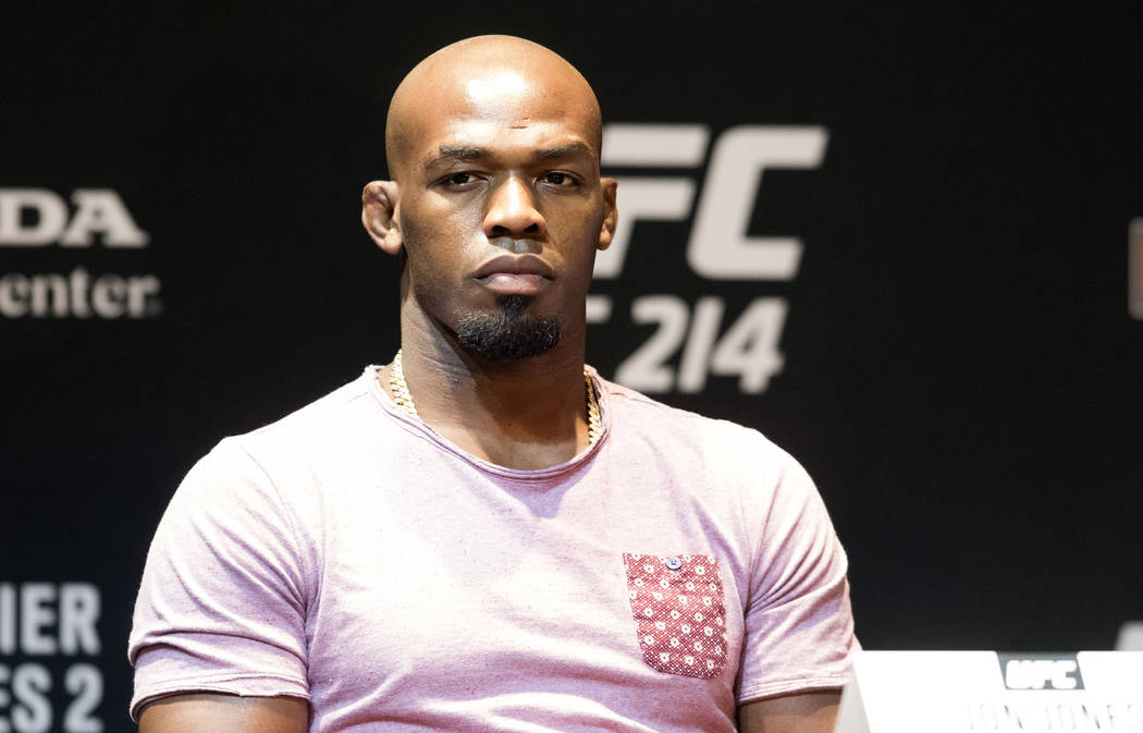 Former UFC light heavyweight champion Jon Jones at the UFC 214 news conference in Los Angeles on Wednesday, July 26, 2017. Heidi Fang Las Vegas Review-Journal @HeidiFang
