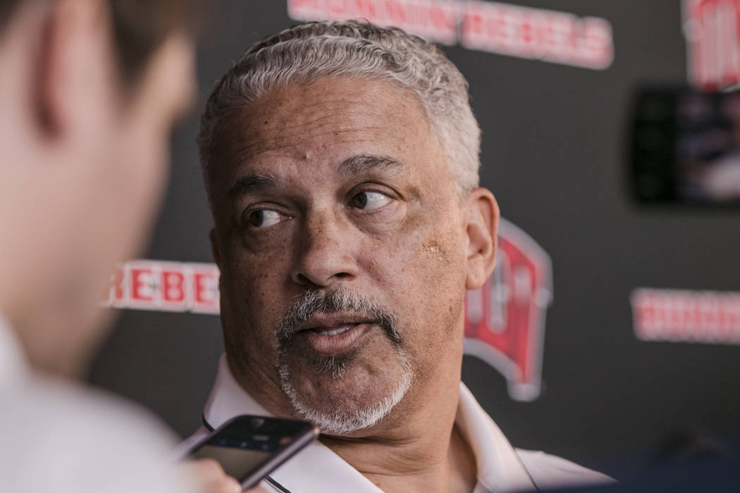 UNLV Men's Basketball coach Marvin Menzies at a press conference at UNLV Mendenhall Center on Monday, July 31, 2017, in Las Vegas. Morgan Lieberman Las Vegas Review-Journal