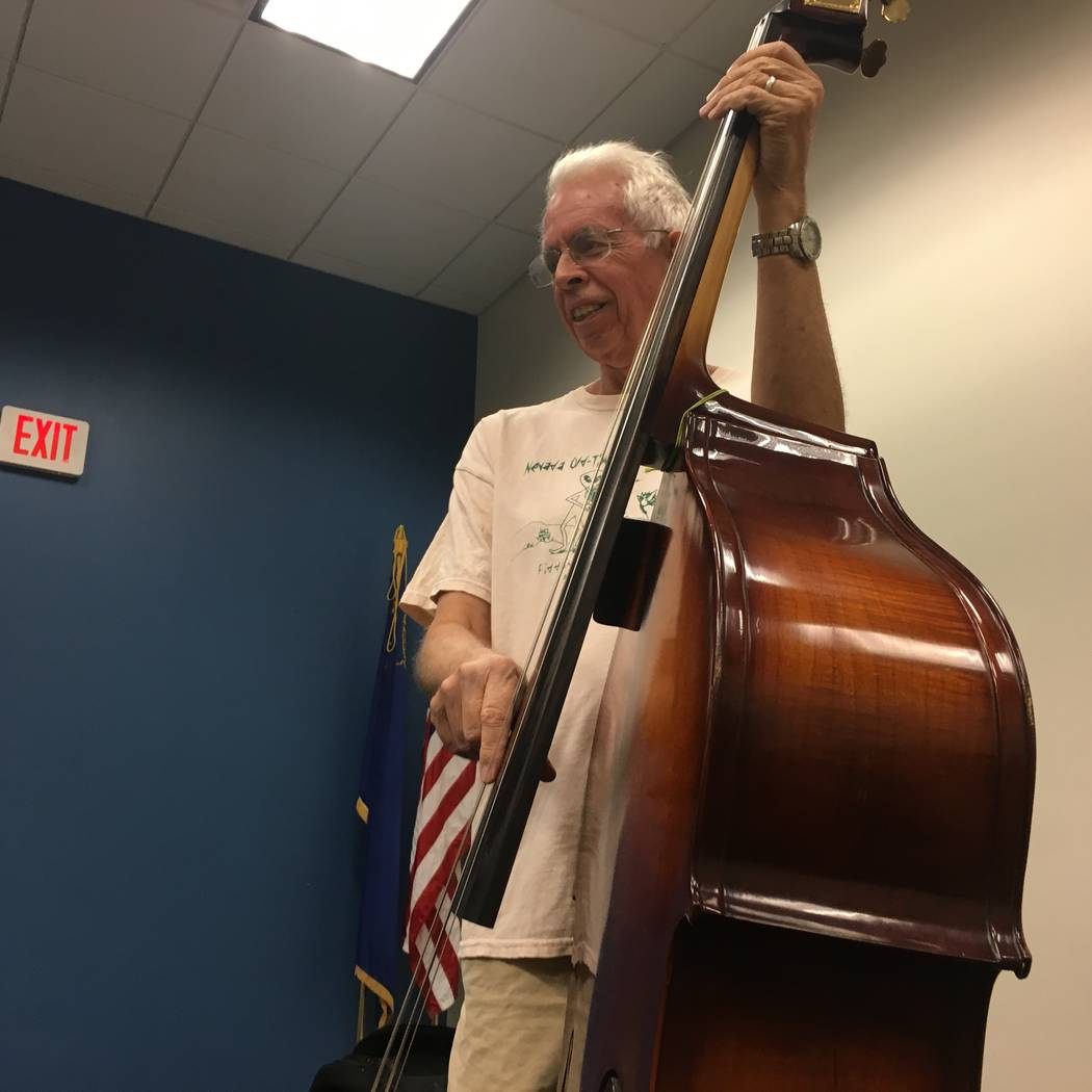 Herb Gilkey, NOFA's lone bass player, started the group in 2000 after a bluegrass festival inspired him, his wife and other local fiddlers to have their own inclusive group. (Diego Mendoza-Moyers/ ...