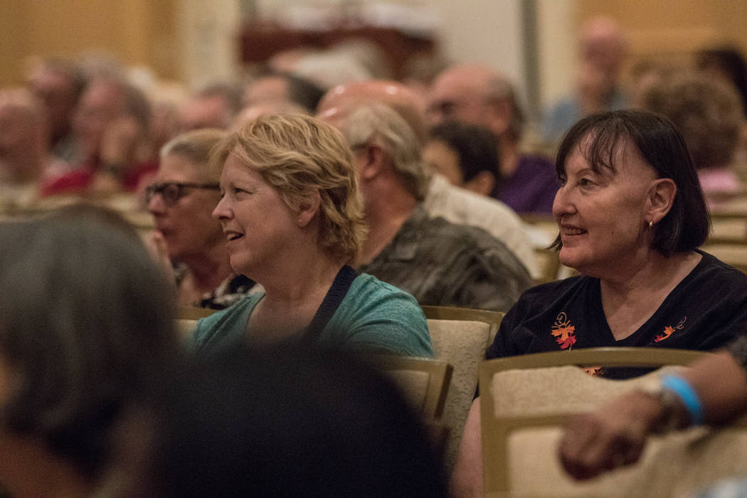 Attendees listen to Frank Abagnale on Thursday, Sep. 14, 2017, at Gold Coast hotel-casino in Las Vegas. Morgan Lieberman Las Vegas Review-Journal
