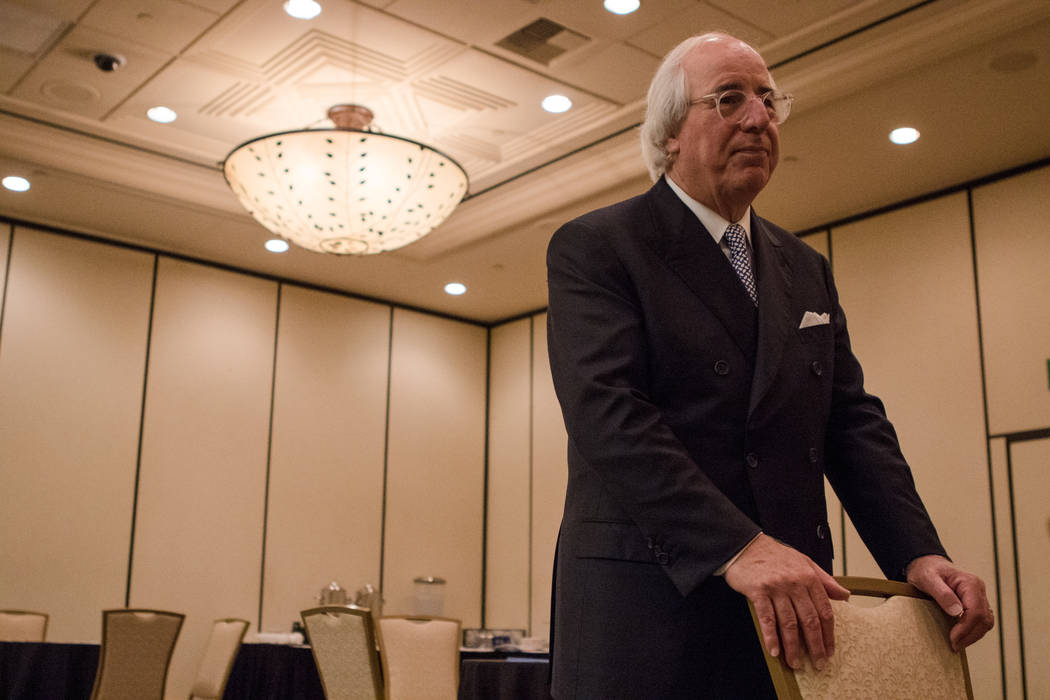 Frank Abagnale waiting to speak to Nevada AARP on Thursday, Sep. 14, 2017, at Gold Coast hotel-casino in Las Vegas. Morgan Lieberman Las Vegas Review-Journal