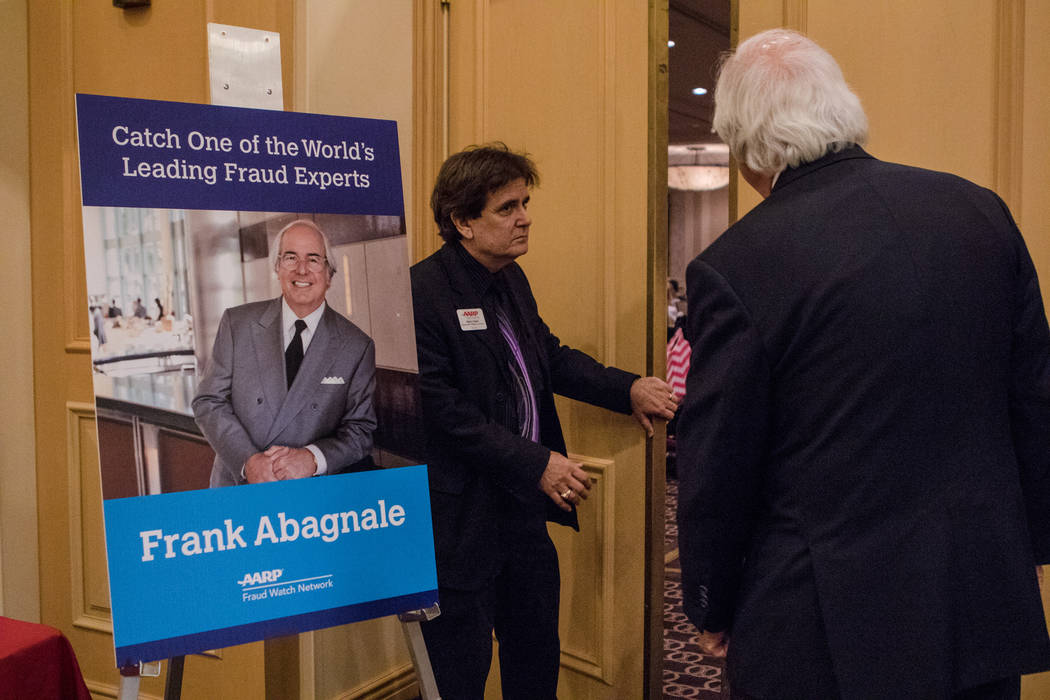 Frank Abagnale entering the room to speak to Nevada AARP on Thursday, Sep. 14, 2017, at Gold Coast hotel-casino in Las Vegas. Morgan Lieberman Las Vegas Review-Journal