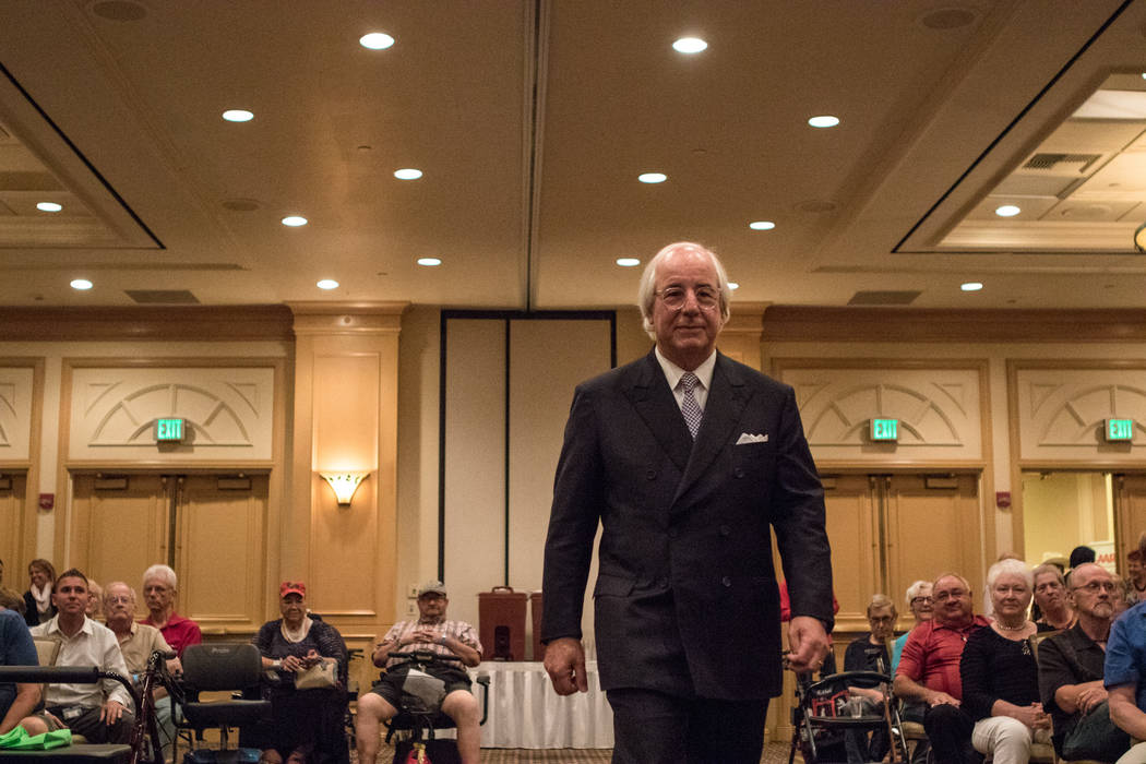 Frank Abagnale walking up to the podium to speak to Nevada AARP on Thursday, Sep. 14, 2017, at Gold Coast hotel-casino in Las Vegas. Morgan Lieberman Las Vegas Review-Journal